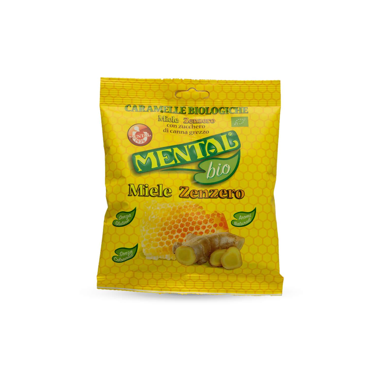 Envelope Pillow Organic Honey Ginger Candies - Single Pack - Bio Candies