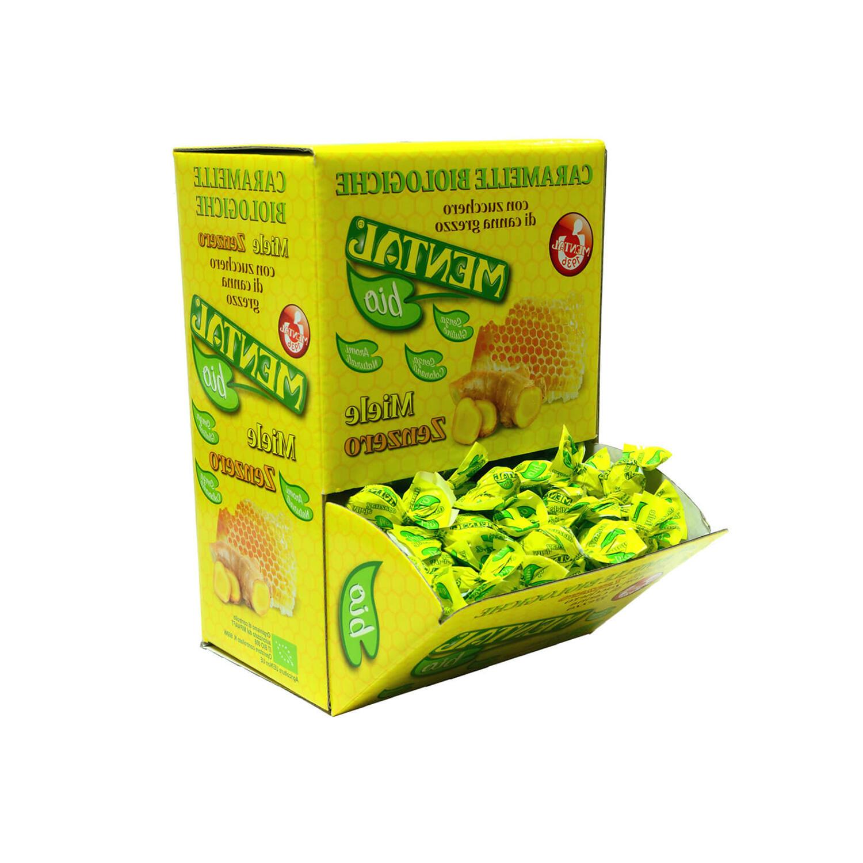 Mangiatoia Caramelle BIO Miele/Zenzero g.750 - Mangiatoie