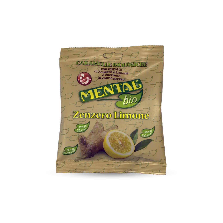 Busta Cuscino Caramelle Biologiche Zenzero Limone - Confezione da 12PZ - Caramelle Bio