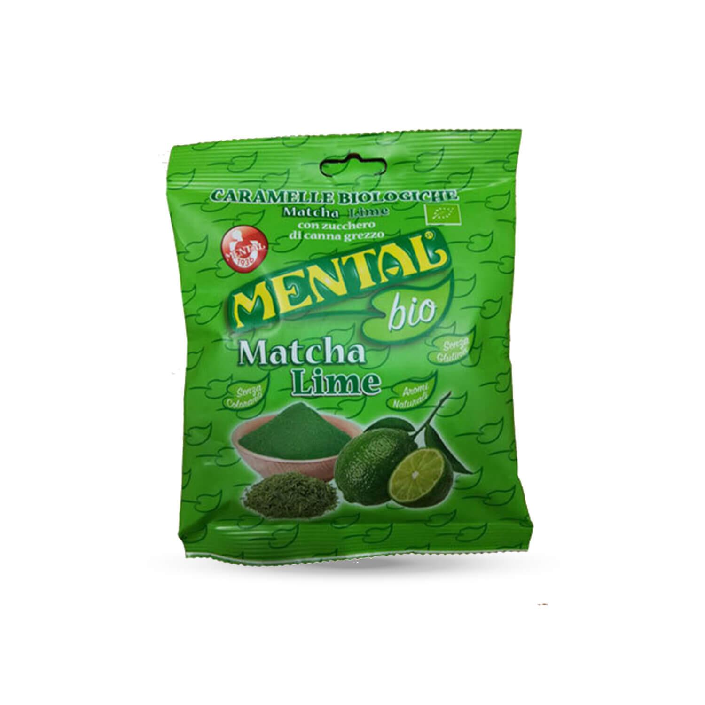 Busta Cuscino Caramelle Biologiche  Matcha Lime - Confezione 12PZ - Caramelle Bio